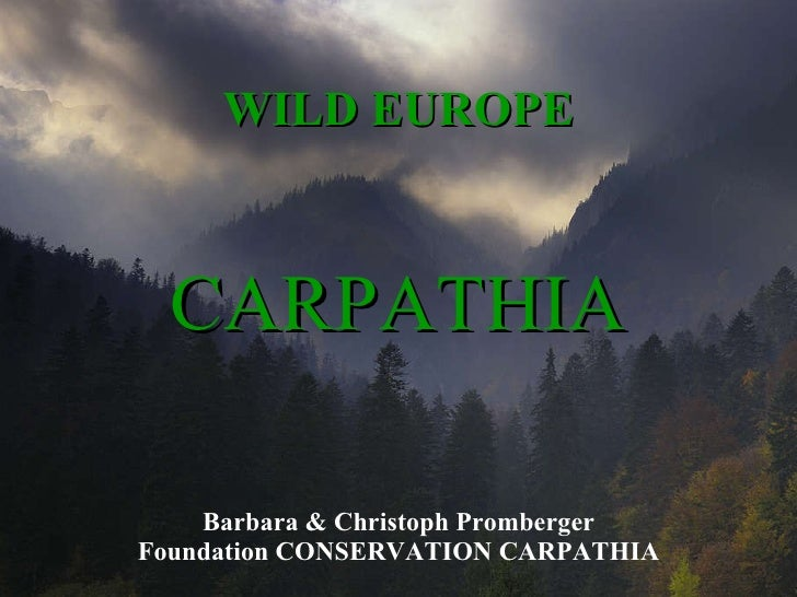 WILD EUROPE Barbara & Christoph Promberger Foundation CONSERVATION CARPATHIA CARPATHIA