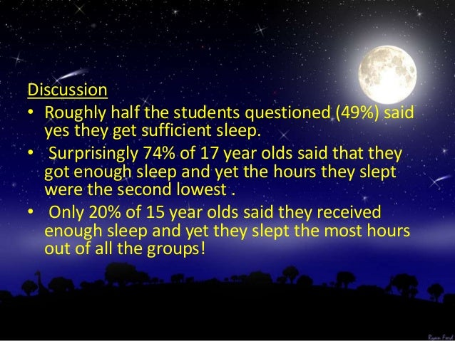 GENERAL CONCLUSION I generally think that what our parents and guardians say to us about sleeping is correct. We do not sl...