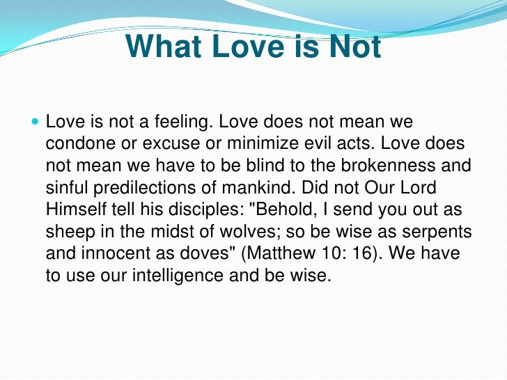 what love is and what love is not