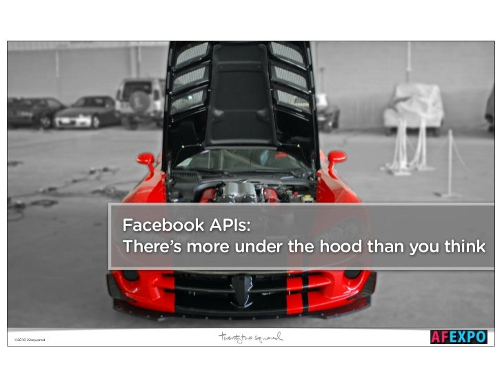 Facebook APIs:                  There's more under the hood than you think©2010 22squared