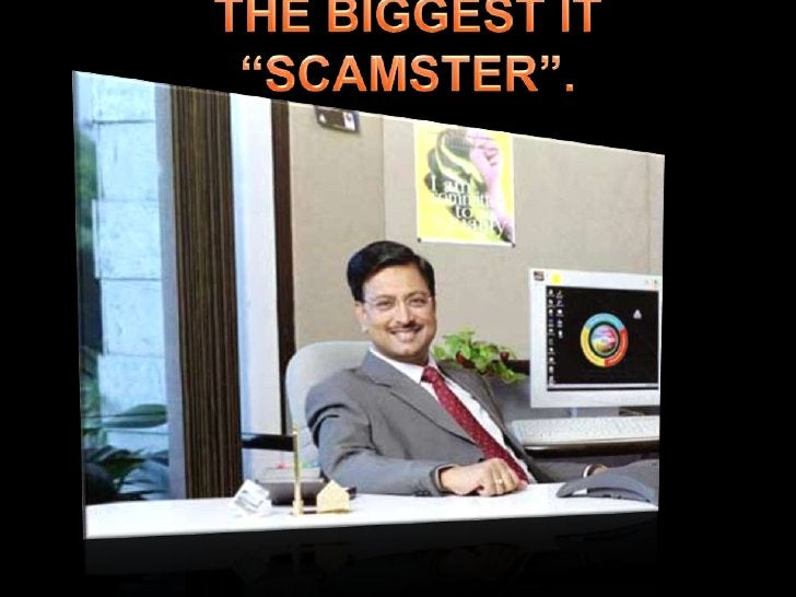 """THE BIGGEST IT """"SCAMSTER"""".<br />"""