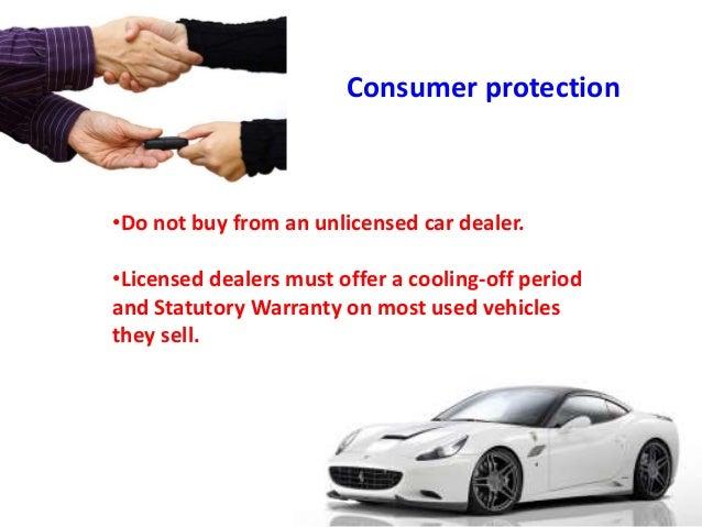 Car Dealers Statutory Warranty