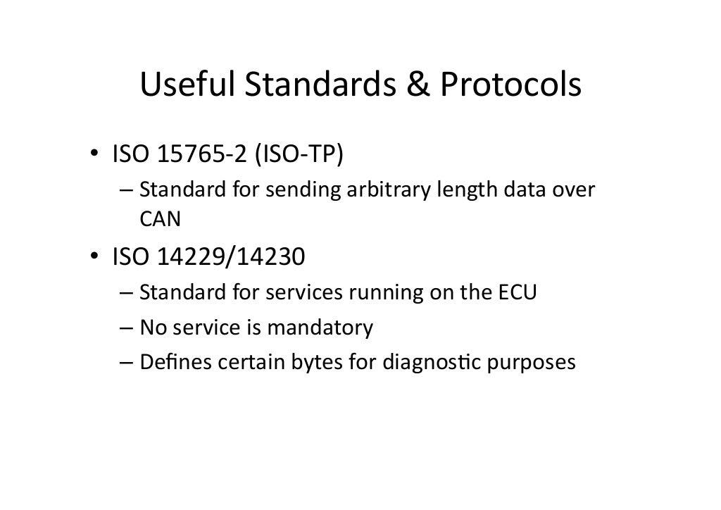 Useful Standards & Protocols