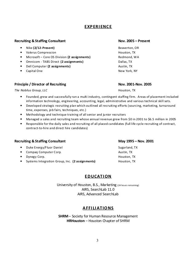 Chris Wooddell Cv W/References (Senior, Recruiter, Sourcer, Corporate…
