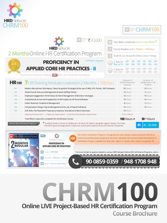 Chrm100 2 Months Project Based Certification Program For Proficienc