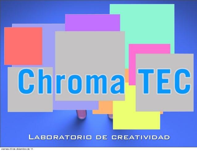Laboratorio de creatividad viernes 23 de diciembre de 11