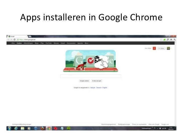 Apps installeren in Google Chrome