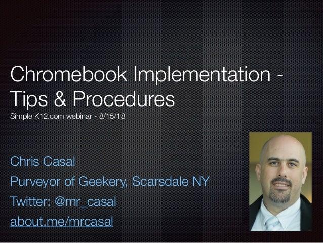 Chromebook Implementation 081518
