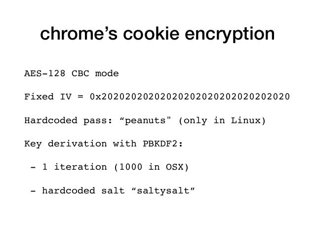 """AES-128 CBC mode Fixed IV = 0x20202020202020202020202020202020 Hardcoded pass: """"peanuts"""" (only in Linux) Key derivation wi..."""