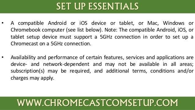 how to set up chromecast computer