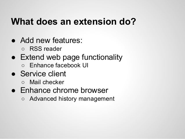 Chrome extension development