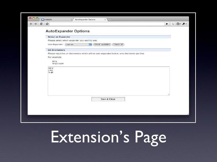 Chrome Extension Develop Starts