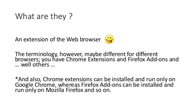 Introduction to Web Browser Extension/Add-ons