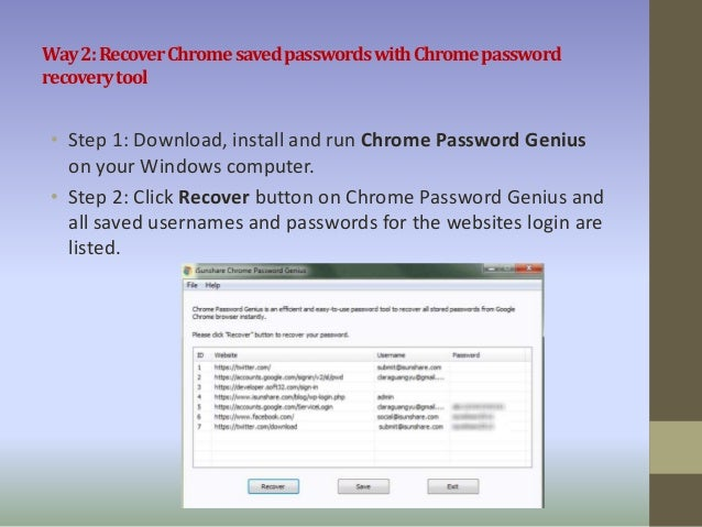 Chrome stored passwords - how can i find it