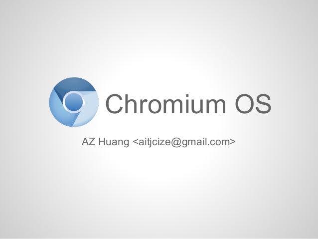 Chromium OS Introduction