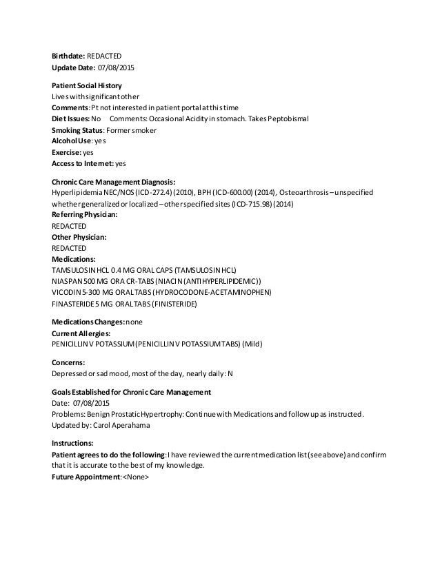Chronic Care Managemen Template - Chronic care management template