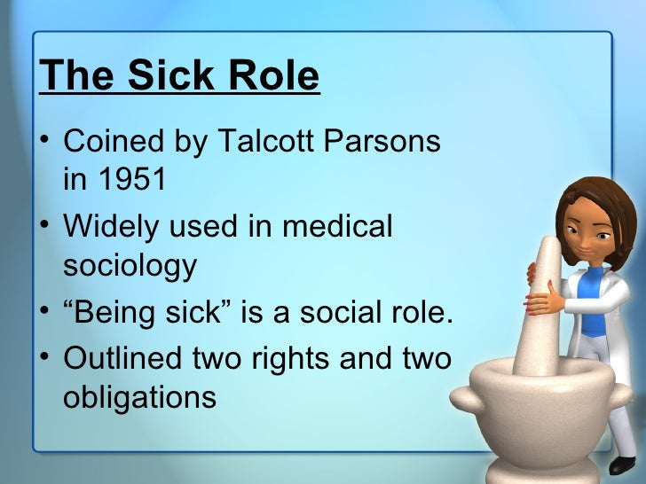 the sick role Stuck in the sick role: how illness becomes an identity [melissa stennett deuter]  on amazoncom free shipping on qualifying offers in her psychiatric.
