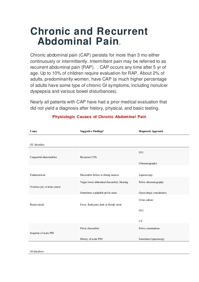 abdominal pain recurrent adult