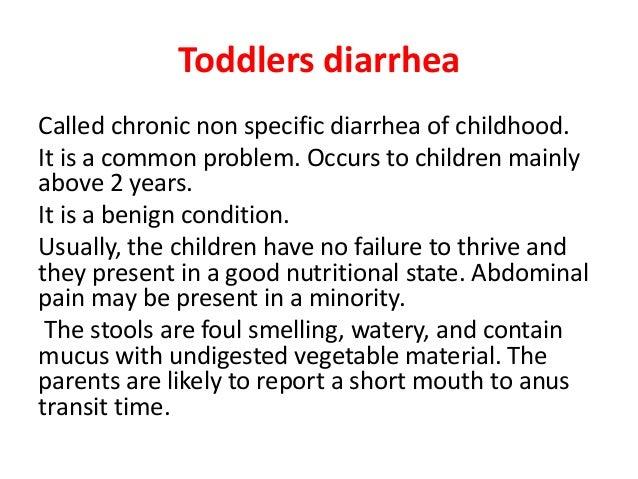 Chronic diarrhea in children