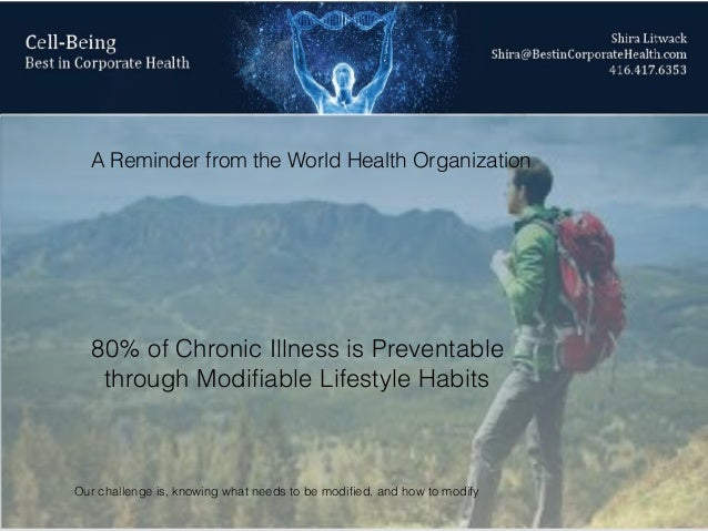 Chronic illness: Wellness Solutions  Personalized with Genomics & Biometrics Slide 3