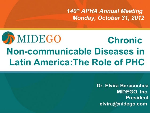 140th APHA Annual Meeting               Monday, October 31, 2012                      Chronic         Title PageDiseases i...