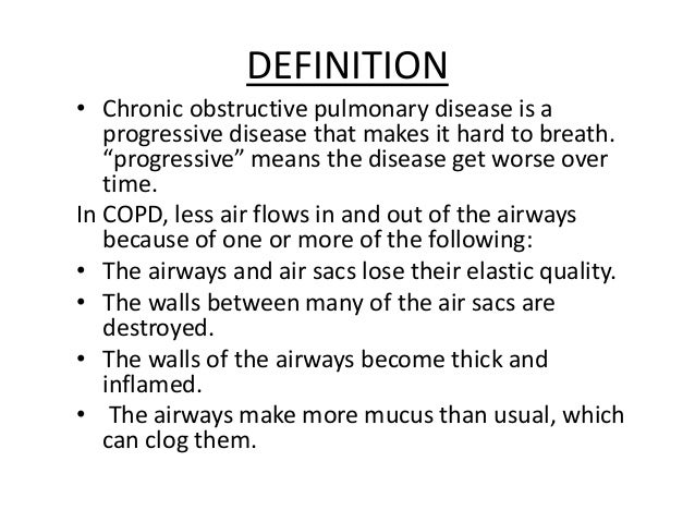 chronic obstructive pulmonary disease article review Review article cytokines in chronic obstructive pulmonary disease seema singh 1, s k verma 1, santosh kumar 1, suryakant , sandeep k singh2, rishikesh gupta3 1 department of pulmonary medicine, king george's medical university, lucknow-226001 2 department of pharmaceutical sciences, ggu, bilaspur, chhattisgarh-495009 3.