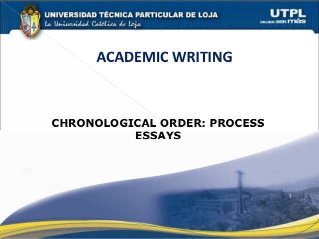 Chronological order in essay