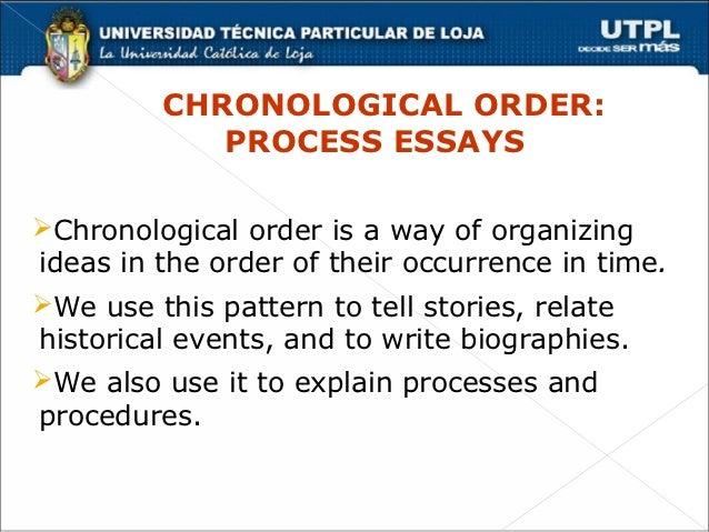 Chronological Order Process Essays Chronological