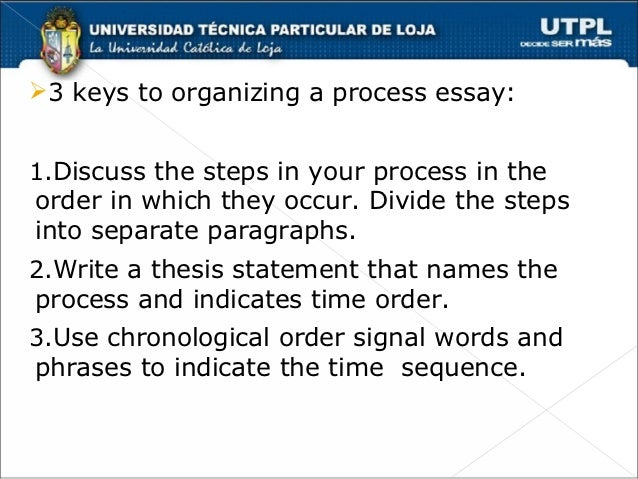 chronological order in writing essay