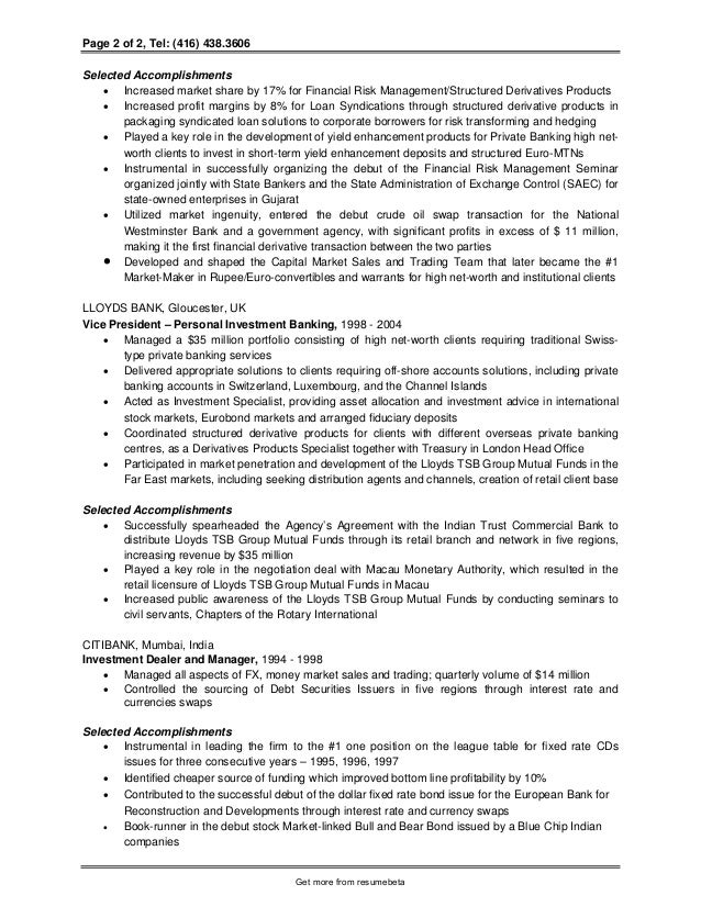 chronological professional investment analyst resume