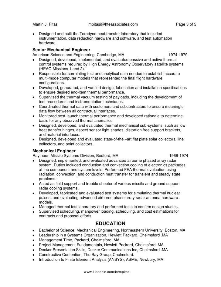 linkedincominmpitasi 3 - Senior Mechanical Engineer Sample Resume