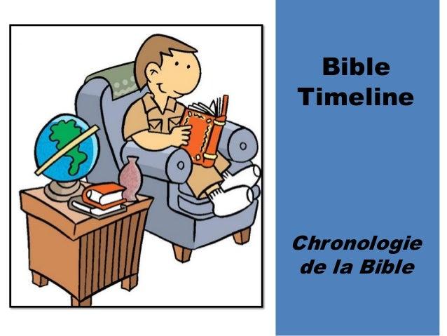 Bible Timeline Chronologie de la Bible
