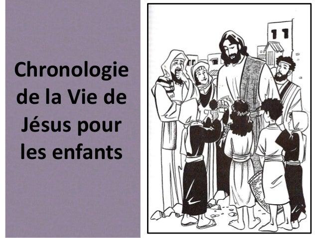 Chronologie de la Vie de Jésus pour les enfants