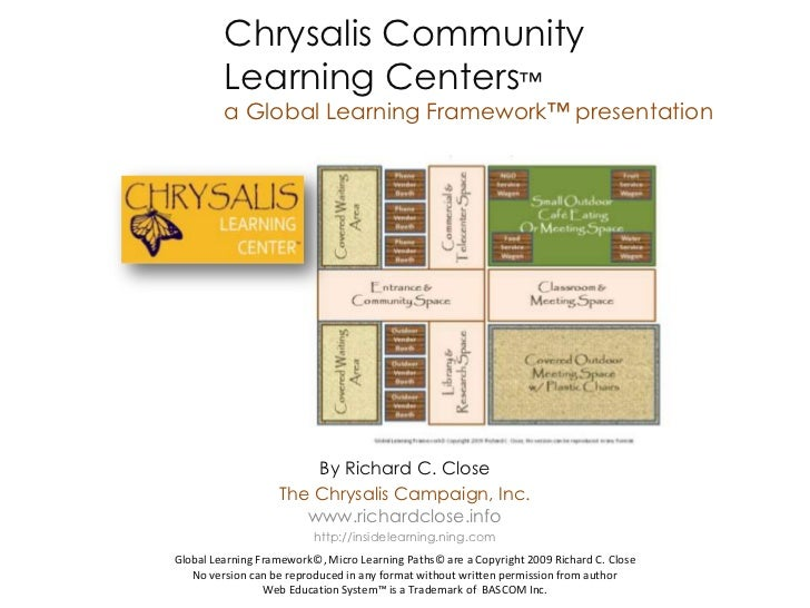 Chrysalis Community         Learning Centers™         a Global Learning Framework™ presentation                       By R...
