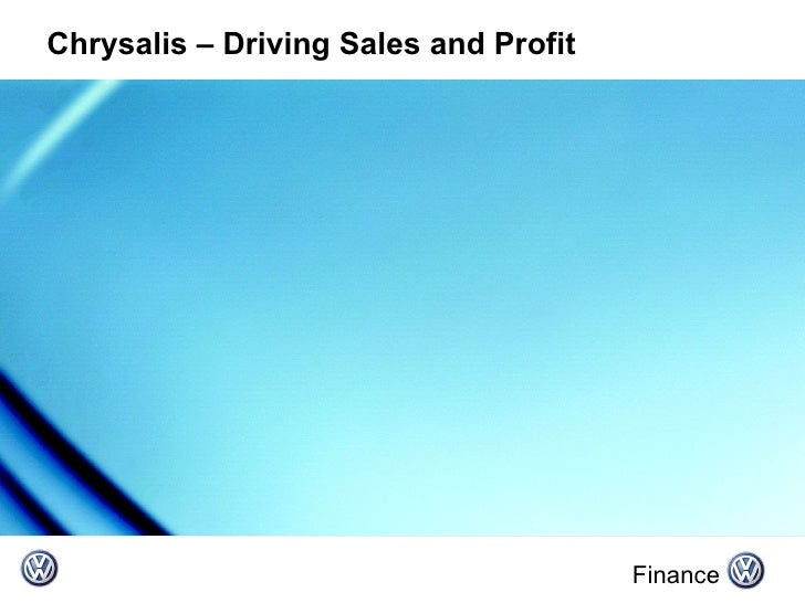 Chrysalis – Driving Sales and Profit Finance
