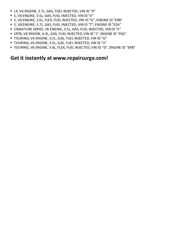Chrysler 300 Repair Manual 2005 2012