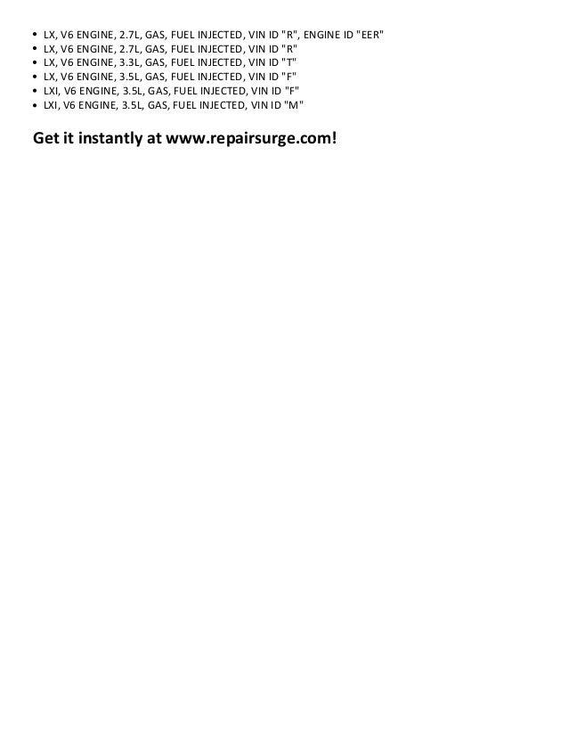 chrysler concorde repair manual 1993 2004 rh slideshare net chrysler concorde owners manual 2002 chrysler concorde owners manual pdf