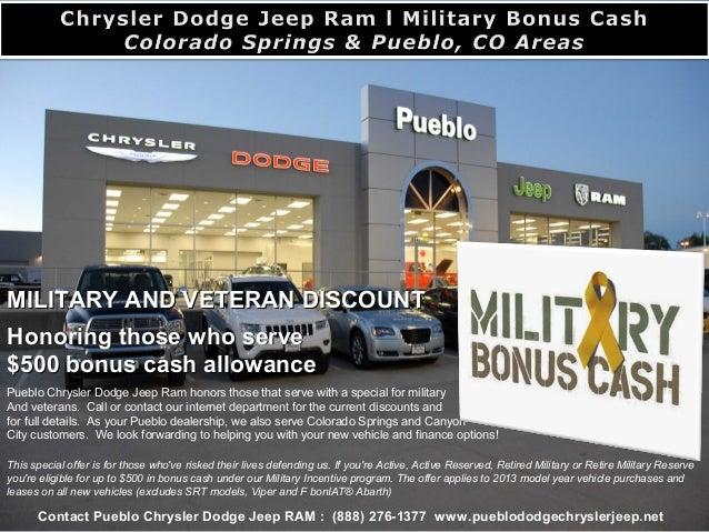 Car Dealerships Colorado Springs >> Dodge Military Bonus Cash L Colorado Springs Pueblo Co