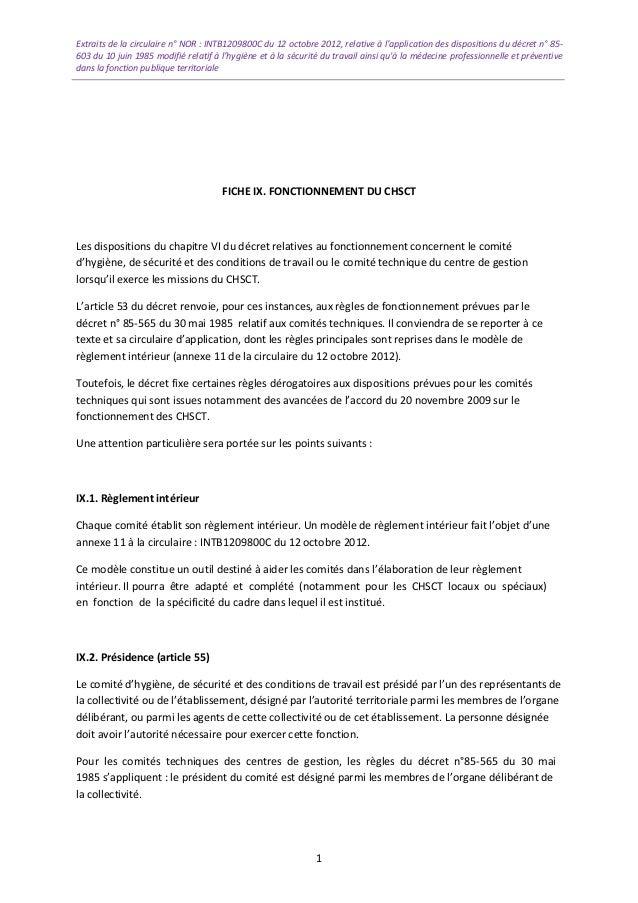 8459c857878 Extraits de la circulaire n° NOR   INTB1209800C du 12 octobre 2012