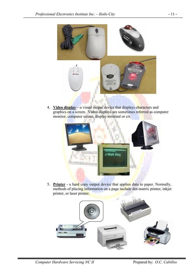 Professional Electronics Institute Inc. – Iloilo City - 11 - Computer Hardware Servicing NC II Prepared by: O.C. Cabillos ...