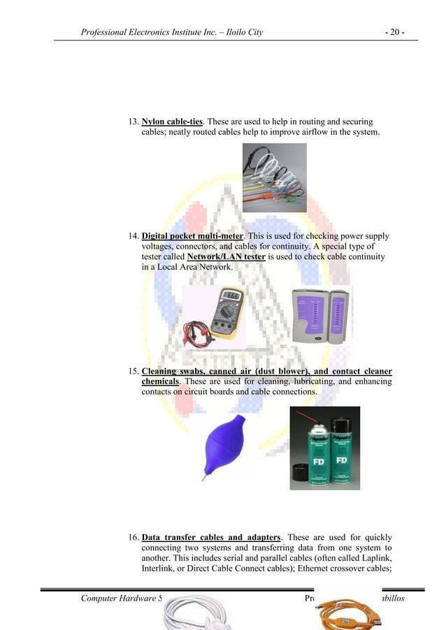 Professional Electronics Institute Inc. – Iloilo City - 20 - Computer Hardware Servicing NC II Prepared by: O.C. Cabillos ...