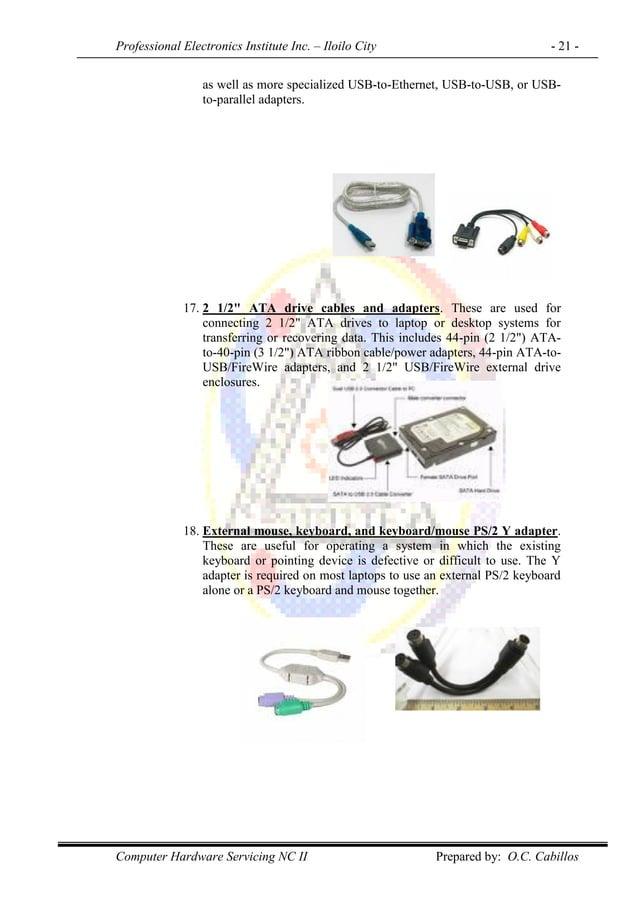 Professional Electronics Institute Inc. – Iloilo City - 21 - Computer Hardware Servicing NC II Prepared by: O.C. Cabillos ...