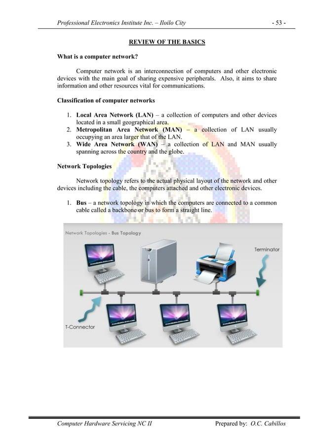 Professional Electronics Institute Inc. – Iloilo City - 53 - Computer Hardware Servicing NC II Prepared by: O.C. Cabillos ...