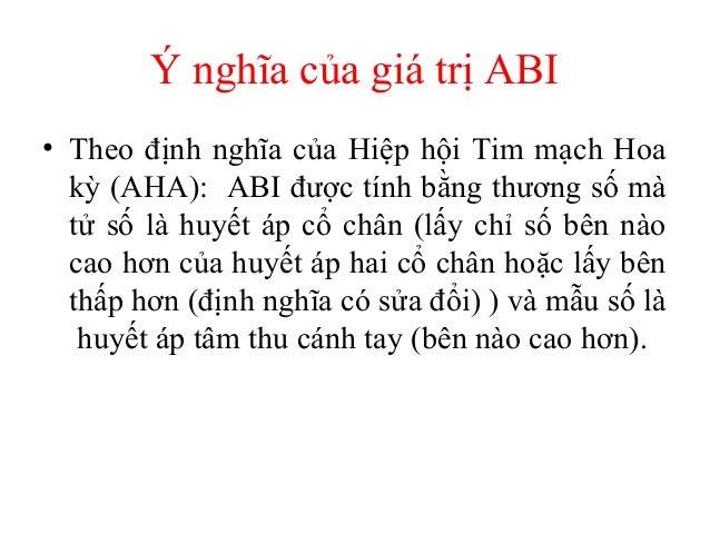 Ý nghĩa của giá trị ABI: