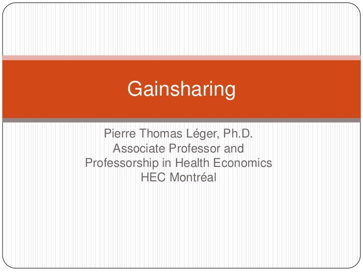 Pierre Thomas Léger, Ph.D.<br />Associate Professor and<br />Professorship in Health Economics<br />HEC Montréal<br />Gain...