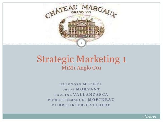 1Strategic Marketing 1      MiM1 Anglo C01      ÉLÉONORE  MICHEL        CHLOÉ MORVANT     PAULINE VALLANZASCA  PIERRE-EMMA...