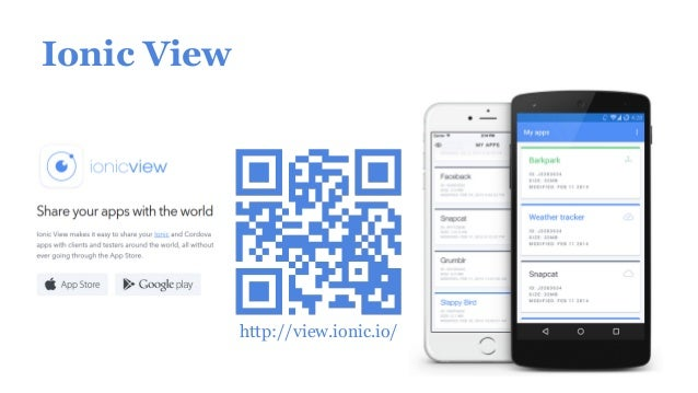 Ionic View http://view.ionic.io/