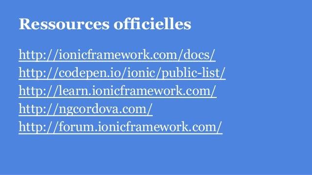 Ressources communautaires http://loic.knuchel.org/blog/ @loicknuchel https://blog.nraboy.com/ @nraboy http://mcgivery.com/...