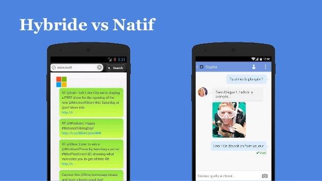 Hybride vs Natif