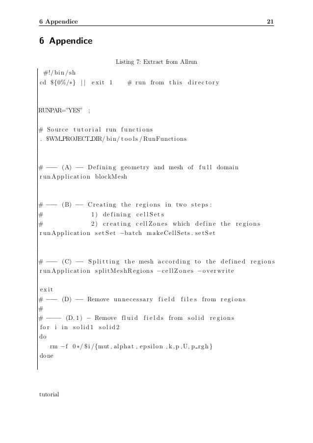 Openfoam tutorial Cases